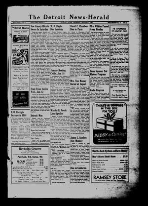 Primary view of object titled 'The Detroit News-Herald (Detroit, Tex.), Vol. 20, No. 41, Ed. 1 Thursday, January 6, 1949'.