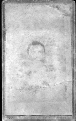 Primary view of object titled '[Faded image of W. B. Jones]'.