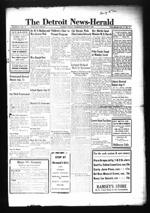 Primary view of object titled 'The Detroit News-Herald (Detroit, Tex.), Vol. 16, No. 19, Ed. 1 Thursday, August 5, 1943'.