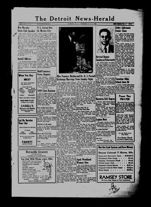 Primary view of object titled 'The Detroit News-Herald (Detroit, Tex.), Vol. 21, No. 9, Ed. 1 Thursday, June 2, 1949'.