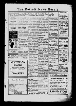 Primary view of object titled 'The Detroit News-Herald (Detroit, Tex.), Vol. 19, No. 44, Ed. 1 Thursday, February 6, 1947'.