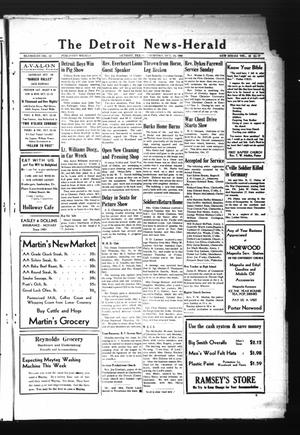 Primary view of object titled 'The Detroit News-Herald (Detroit, Tex.), Vol. 18, No. 29, Ed. 1 Thursday, October 18, 1945'.