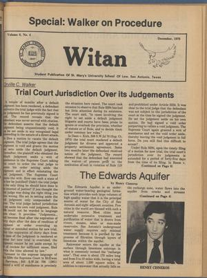 Witan (San Antonio, Tex.), Vol. 6, No. 4, Ed. 1 Friday, December 1, 1978
