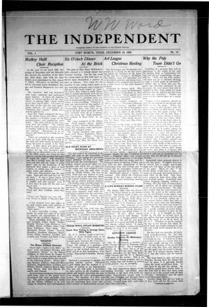 The Independent (Fort Worth, Tex.), Vol. 1, No. 14, Ed. 1 Saturday, December 18, 1909