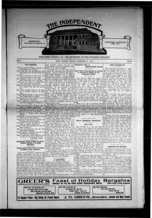 Primary view of object titled 'The Independent (Fort Worth, Tex.), Vol. 2, No. 17, Ed. 1 Saturday, December 24, 1910'.