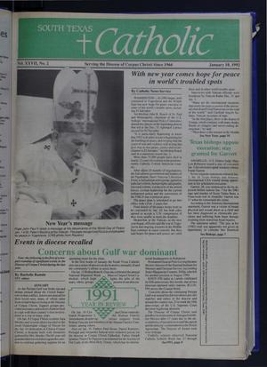 Primary view of object titled 'South Texas Catholic (Corpus Christi, Tex.), Vol. 27, No. 2, Ed. 1 Friday, January 10, 1992'.