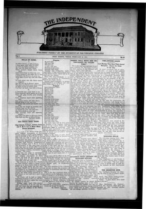 Primary view of object titled 'The Independent (Fort Worth, Tex.), Vol. 2, No. 24, Ed. 1 Saturday, February 18, 1911'.