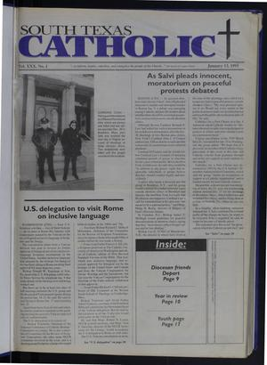 Primary view of object titled 'South Texas Catholic (Corpus Christi, Tex.), Vol. 30, No. 1, Ed. 1 Friday, January 13, 1995'.