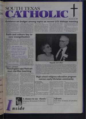 Primary view of object titled 'South Texas Catholic (Corpus Christi, Tex.), Vol. 30, No. 22, Ed. 1 Friday, November 24, 1995'.