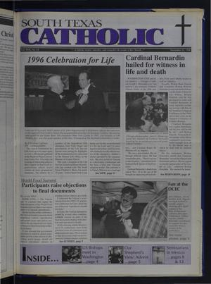 Primary view of object titled 'South Texas Catholic (Corpus Christi, Tex.), Vol. 31, No. 22, Ed. 1 Friday, November 22, 1996'.