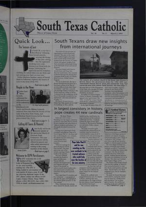 Primary view of object titled 'South Texas Catholic (Corpus Christi, Tex.), Vol. 36, No. 5, Ed. 1 Friday, March 2, 2001'.