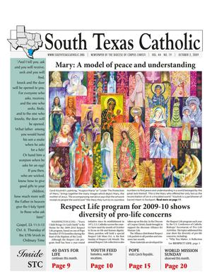 Primary view of object titled 'South Texas Catholic (Corpus Christi, Tex.), Vol. 44, No. 19, Ed. 1 Friday, October 2, 2009'.