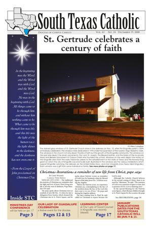 Primary view of object titled 'South Texas Catholic (Corpus Christi, Tex.), Vol. 43, No. 24, Ed. 1 Friday, December 19, 2008'.
