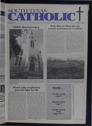 Primary view of object titled 'South Texas Catholic (Corpus Christi, Tex.), Vol. 30, No. 2, Ed. 1 Friday, January 27, 1995'.