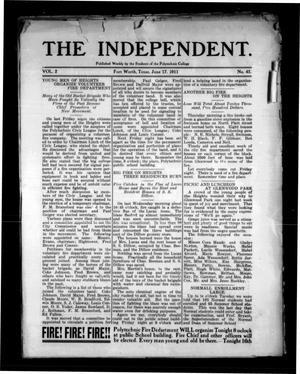 Primary view of object titled 'The Independent (Fort Worth, Tex.), Vol. 2, No. 41, Ed. 1 Saturday, June 17, 1911'.
