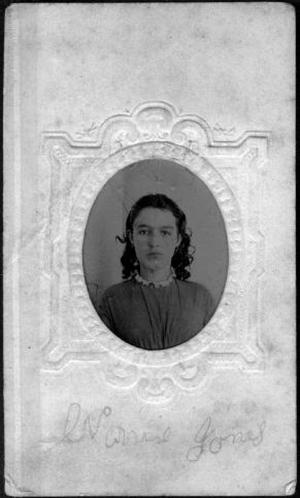 Primary view of object titled '[Bust photograph of a young woman, possibly Nancy Slavin Jones]'.