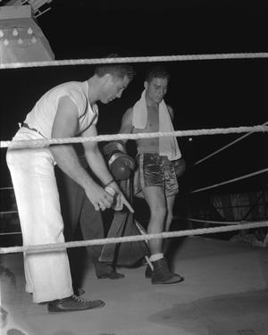 [Pete Gil in the Boxing Ring for a Benefit Fight]