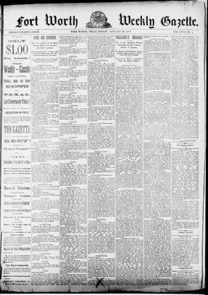 Fort Worth Weekly Gazette. (Fort Worth, Tex.), Vol. 13, No. 171, Ed. 1, Friday, January 20, 1888