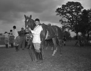 [Portrait of a Jockey and Her Horse]