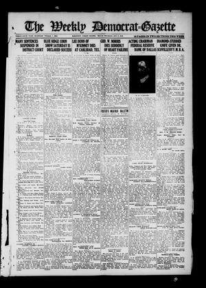 Primary view of object titled 'The Weekly Democrat-Gazette (McKinney, Tex.), Vol. 36, Ed. 1 Thursday, October 9, 1919'.