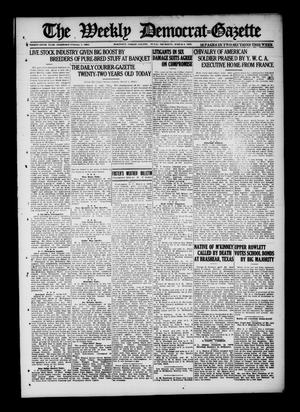 Primary view of object titled 'The Weekly Democrat-Gazette (McKinney, Tex.), Vol. 36, Ed. 1 Thursday, March 6, 1919'.