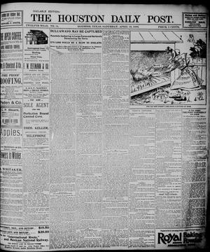 Primary view of object titled 'The Houston Daily Post (Houston, Tex.), Vol. TWELFTH YEAR, No. 14, Ed. 1, Saturday, April 18, 1896'.