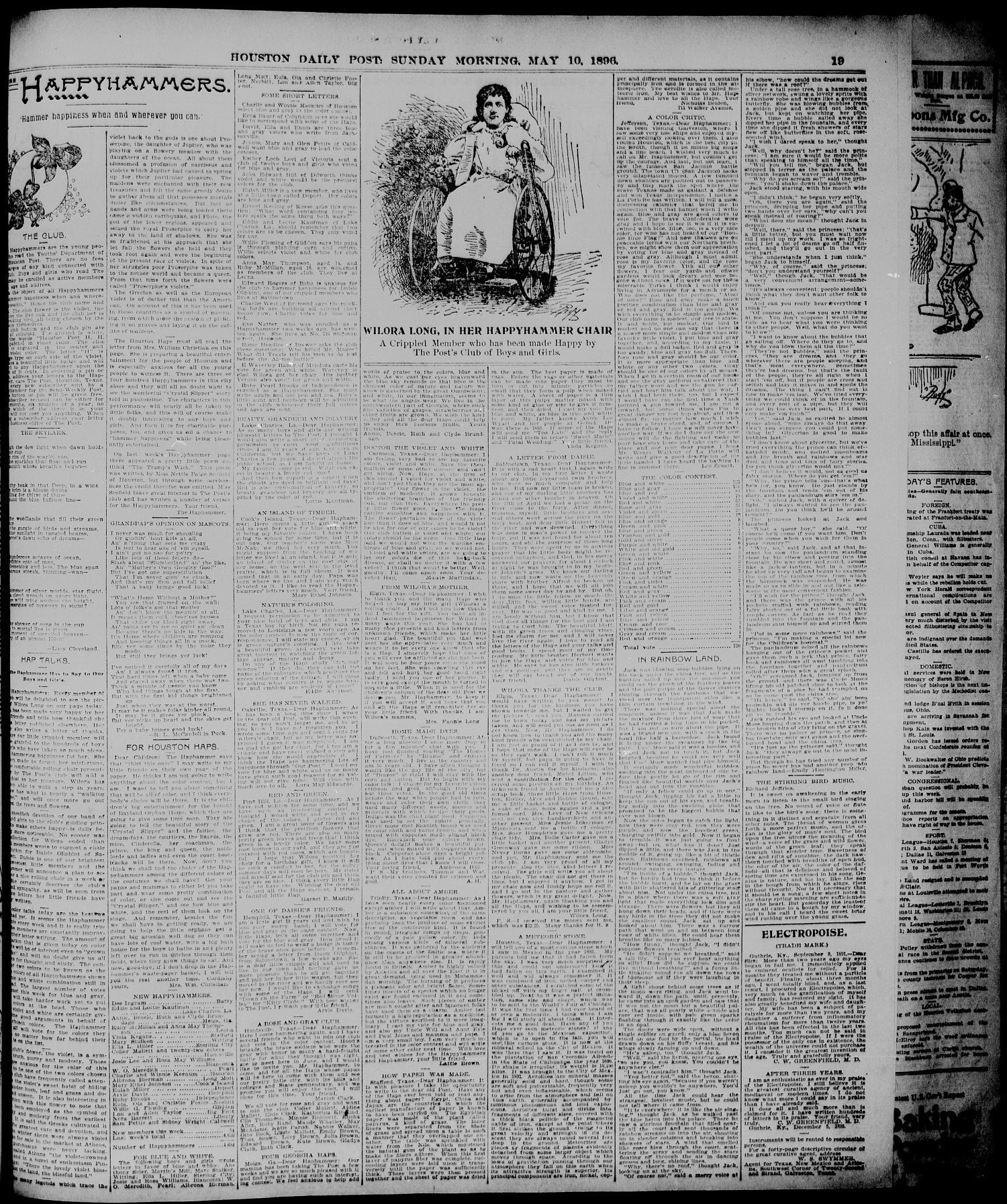 The Houston Daily Post Houston Tex Vol Twelfth Year No 36  # Pose Tele En Boi