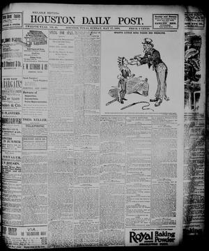Primary view of object titled 'The Houston Daily Post (Houston, Tex.), Vol. TWELFTH YEAR, No. 44, Ed. 1, Monday, May 18, 1896'.