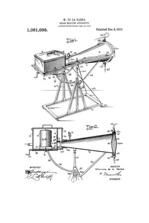 Primary view of object titled 'Solar-Heating Apparatus.'.