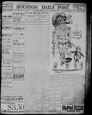 Primary view of object titled 'The Houston Daily Post (Houston, Tex.), Vol. TWELFTH YEAR, No. 106, Ed. 1, Sunday, July 19, 1896'.