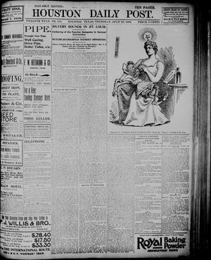 Primary view of object titled 'The Houston Daily Post (Houston, Tex.), Vol. TWELFTH YEAR, No. 110, Ed. 1, Thursday, July 23, 1896'.