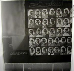 Primary view of object titled '[Negative of a page from a yearbook containing student photos]'.