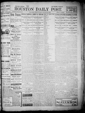Primary view of object titled 'The Houston Daily Post (Houston, Tex.), Vol. XVIITH YEAR, No. 297, Ed. 1, Sunday, January 26, 1902'.