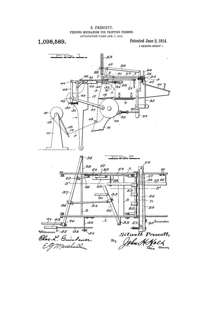 Superb Feeding Mechanism For Printing Press The Portal To Texas History Wiring Digital Resources Attrlexorcompassionincorg