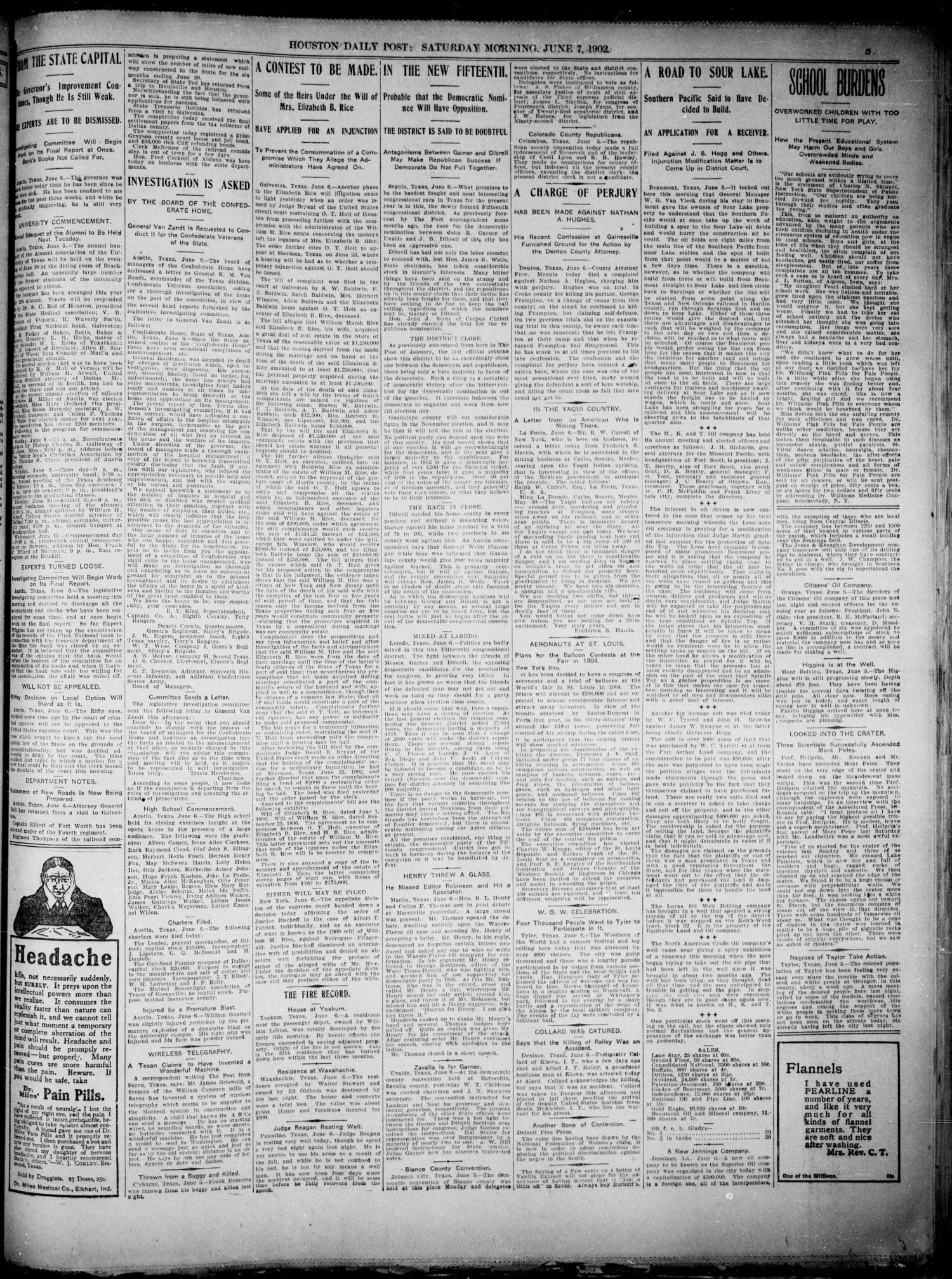The Houston Daily Post (Houston, Tex.), Vol. XVIIITH YEAR, No. 64 ...