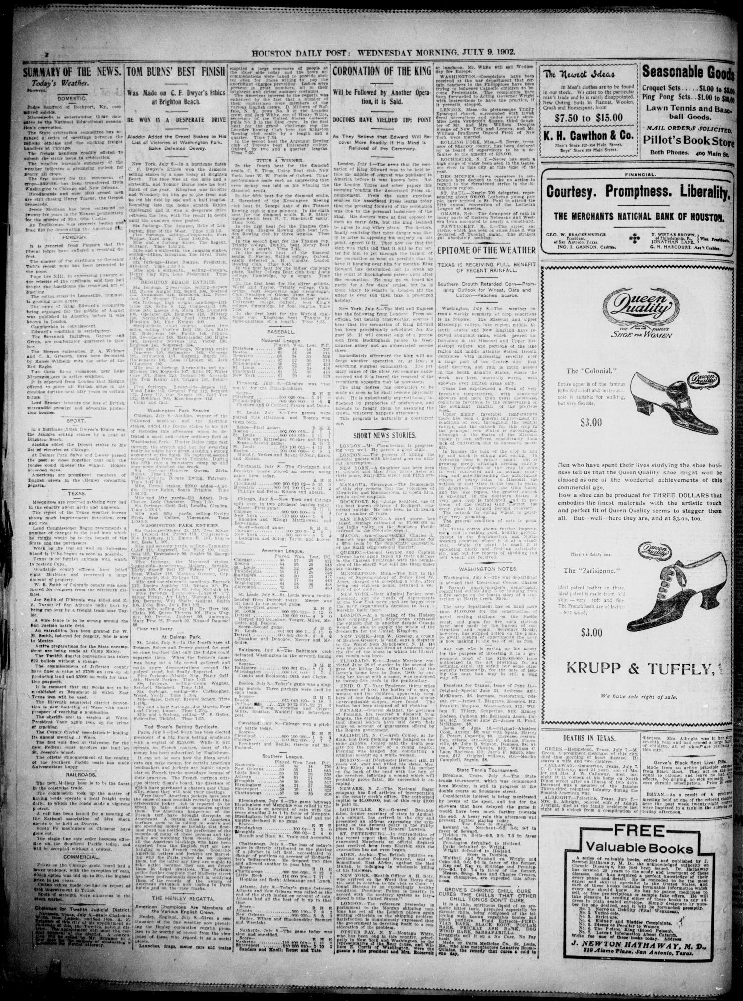 The Houston Daily Post (Houston, Tex ), Vol  XVIIITH YEAR