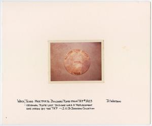 Primary view of object titled '[T&P Builders Plate]'.