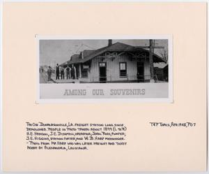 Primary view of object titled '[Freight Station in Donaldsonville, Louisiana]'.