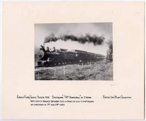 Primary view of object titled '[T&P Train in Eagle Ford, Texas on the Move]'.