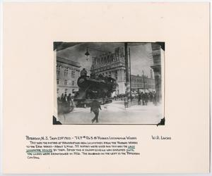 Primary view of object titled '[T&P #265 Being Hauled by Horses]'.