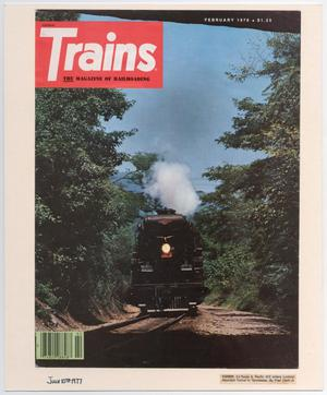 Primary view of object titled '[Trains Magazine Cover]'.