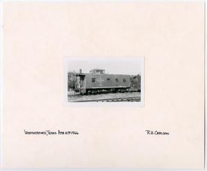 Primary view of object titled '[T&P Caboose in Weatherford, Texas]'.