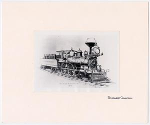 Primary view of object titled '[Illustration of T&P Train #20]'.