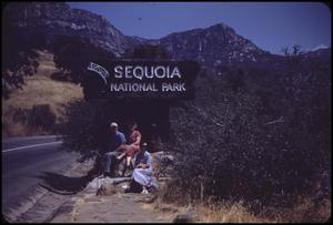 Primary view of object titled '[Entrance to Sequoia National Park]'.