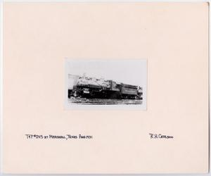Primary view of object titled '[Train #245 in Marshall, Texas 2]'.