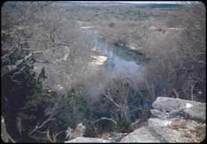 Primary view of object titled '[Bluff Overlooking the Guadalupe River]'.
