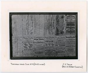 Primary view of object titled '[T&P Timetable]'.