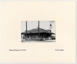 Primary view of object titled '[Train Station in Waskom, Texas]'.
