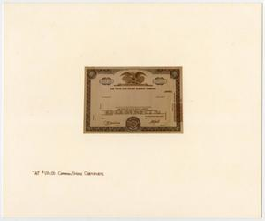 Primary view of object titled '[T&P Stock Certificate]'.