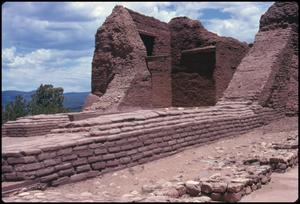 Primary view of object titled '[Church Ruins at Pecos National Monument]'.